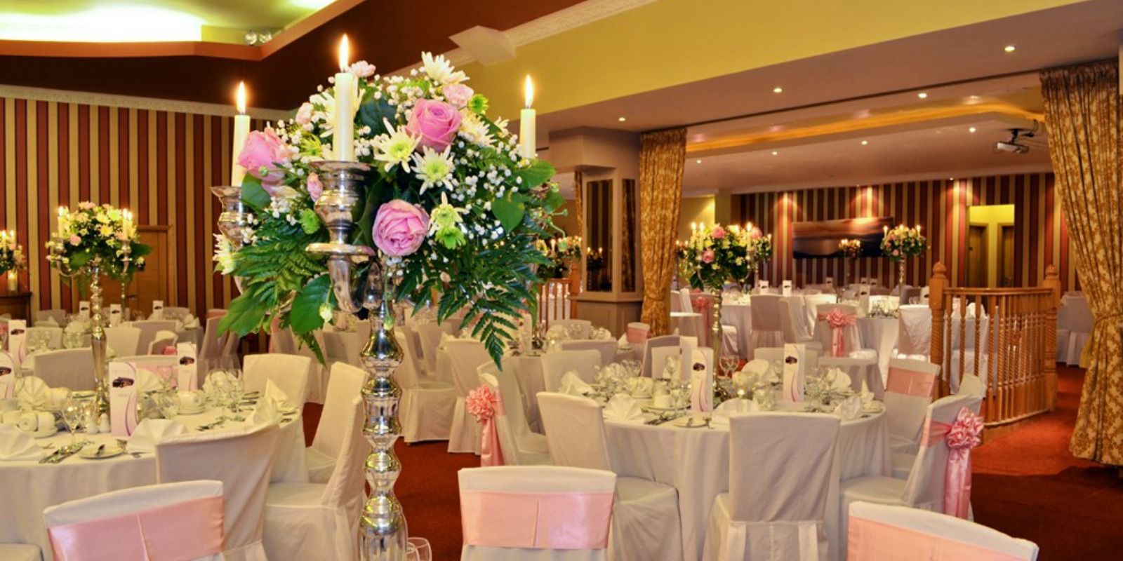 Wedding setup at Broadhaven Bay Hotel